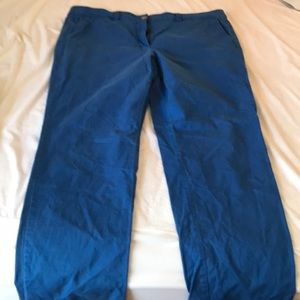 LOFT Royal Blue Modern Straight Pant